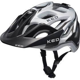 KED Trailon - Casque de vélo - blanc/noir